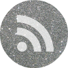 silver round RSS social media icon