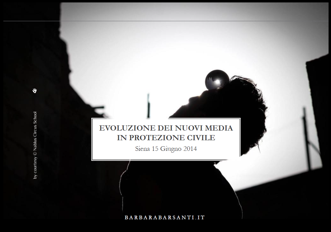 Evoluzione dei nuovi media in protezione civile